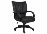 Boss Executive Chair in Leatherplus Black - B9707