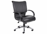 Boss Executive Chair in Leatherplus Black - B9707C