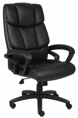 Boss Executive Chair in Top Grain Black Leather - B8701
