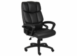 Boss Executive Chair in Top Grain Black Leather - B8702