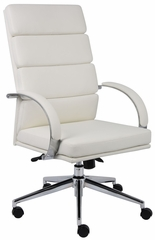 Boss Executive Chair in White - B9401-WT