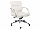Boss Executive Chair in White - B9406-WT