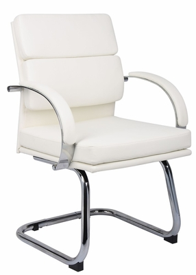 Boss Executive Chair in White - B9409-WT
