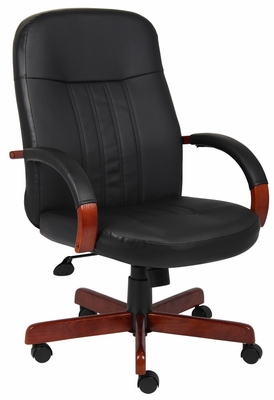 Boss Executive Chair with Cherry Finish - B8376-C