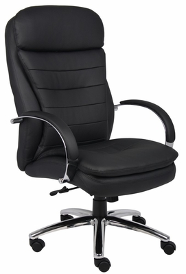 Boss Executive Chair with Chrome Base in Black - B9221