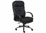 Boss Executive Chair with Chrome Base in Black - B9222