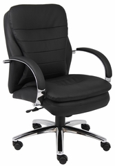 Boss Executive Chair with Chrome Base in Black - B9226