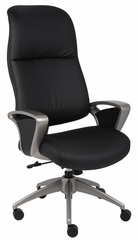 Boss Executive Chair with Pewter Finished Base/Arms - B9661