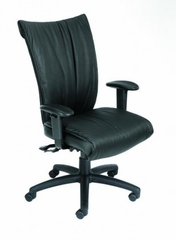 Boss Executive High Back Chair in Leatherplus Black - B750-SS