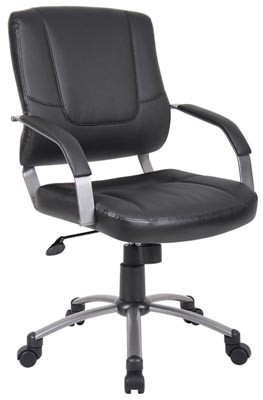 Boss Executive Leatherplus Chair in Black - B446