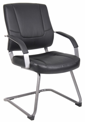 Boss Executive Leatherplus Chair in Black - B449