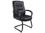 Boss Executive Mid Back Chair in Leatherplus Black - B7519