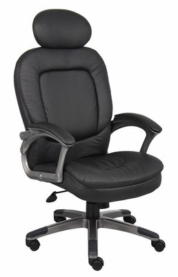 Boss Executive Pillow Top Chair in Black - B7101