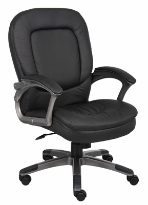 Boss Executive Pillow Top Chair in Black - B7106
