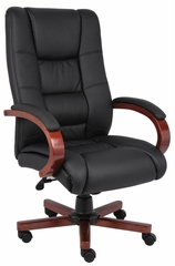 Boss Executive Wood Finished Chair in Cherry - B8991-C