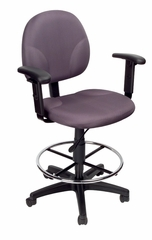 Boss Fabric Drafting Stools in Grey - B1691-GY