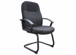 Boss Fabric Guest Chair In Black - B8309-BK