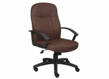 Boss Fabric Managers Chair In Bomber Brown - B8316-BN