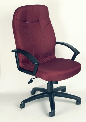 Boss Fabric Office Chair in Burgundy - B8801-BY