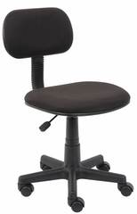Boss Fabric Steno Chair in Black - B205-BK