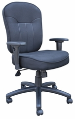 Boss Fabric Task Chair in Black - B1571-BK