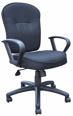 Boss Fabric Task Chair in Black - B1572-BK
