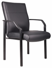 Boss Guest Chair In Leatherplus Black - B689