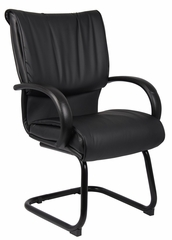Boss Guest Chair in Leatherplus Black - B9709