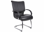 Boss Guest Chair in Leatherplus Black - B9709C