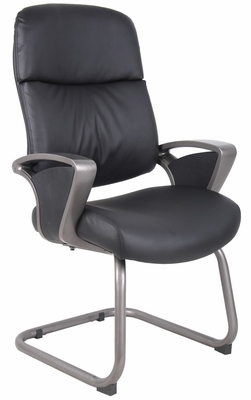 Boss Guest Chair with Pewter Finished Base And Arms - B9669