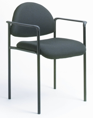 Boss Guest or Visitor Chair in Black - B9501-BK