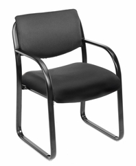 Boss Guest or Visitor Chair in Black - B9521-BK