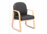 Boss Guest or Visitor Chair in Black - B9560-BK