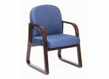 Boss Guest or Visitor Chair in Blue - B9570-BE