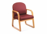 Boss Guest or Visitor Chair in Burgundy - B9560-BY