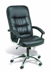 Boss High Back Chair in Leatherplus Black - B7301C