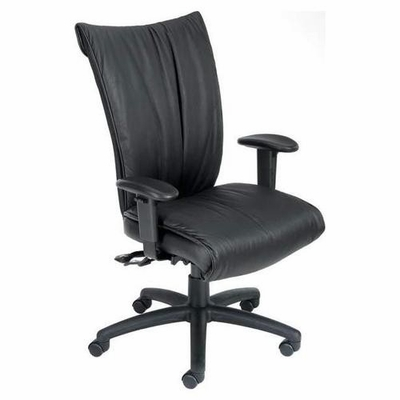 Boss High Back Chair in Leatherplus Black - B750