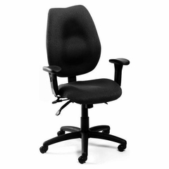 Boss High Back Task Chair in Black - B1002-BK