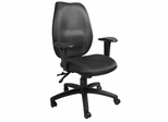 Boss High Back Task Chair with Seat Slider in Black - B1002-SS-BK
