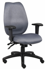 Boss High Back Task Chair with Seat Slider in Gray - B1002-SS-GY