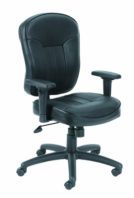 Boss Leather Task Chair in Black - B1561