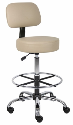 Boss Medical/Drafting Stool in Beige - B16245-BG