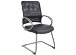 Boss Mesh Back Guest Chair in Black - B6409