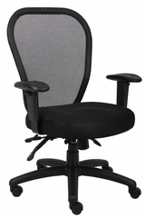 Boss Mesh Chair in Black - B6008