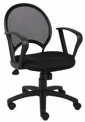 Boss Mesh Chair in Black - B6217