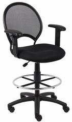 Boss Mesh Drafting Stool in Black - B16216