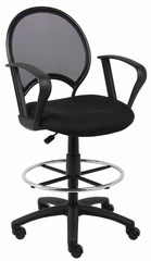 Boss Mesh Drafting Stool in Black - B16217