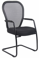 Boss Mesh Guest Chair in Black - B6609-BK
