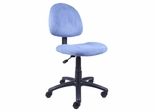Boss Microfiber Deluxe Posture Chair in Blue - B325-BE