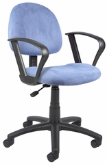 Boss Microfiber Deluxe Posture Chair in Blue - B327-BE